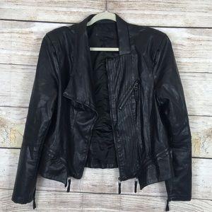 Blank NYC asymmetrical faux leather moto jacket